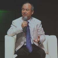 SoftBank Group Corp. CEO Masayoshi Son speaks at the 5th Anniversary Symposium of the Renewable Energy Institute in Tokyo on Sept. 9. | KYODO