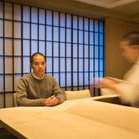 Takashi Yamada, founder and CEO of Tableall, discusses his venture in Tokyo on Nov. 11. | BLOOMBERG