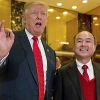 Trump again takes credit for 8,000 jobs where credit is actually due Softbank's Son