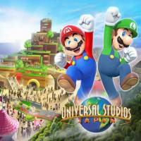 A sketch provided by the operator of Universal Studio Japan in Osaka shows an image of a Nintendo-themd area featuring the game maker's popular character Mario, set to open by the summer of 2020.   KYODO