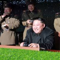 As Park Geun-hye is impeached and Donald Trump battles China, North Korean leader Kim Jong Un laughs