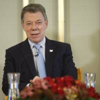 Colombia president to collect peace prize without rebels