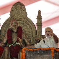 India begins building world's tallest statue, of 17th-century Hindu ruler who fought Muslim dynasty