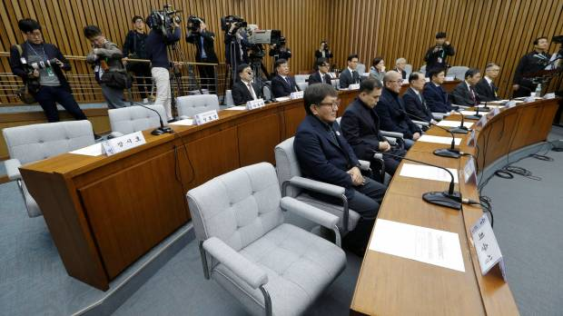 Park confidante at center of South Korean scandal defies order to appear before lawmakers