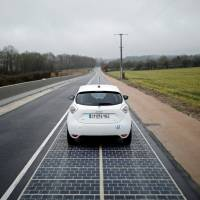 Small French town's 'Wattway' solar road converts sunshine to power street lights