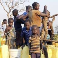 Thousands of South Sudanese flee war to booming Uganda refugee camps