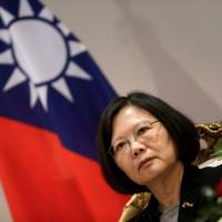 Taiwanese President Tsai Ing-wen speaks during an interview in Luque, Paraguay, on June 28. | REUTERS