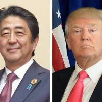 Japan and the United States are reportedly arranging a meeting between Prime Minister Shinzo Abe and President-elect Donald Trump around January 27.   KYODO, GETTY IMAGES