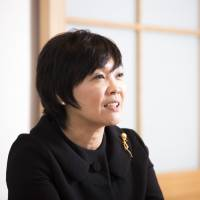 Akie Abe speaks during an interview at her organic restaurant Uzu in Tokyo on Nov. 29. | BLOOMBERG