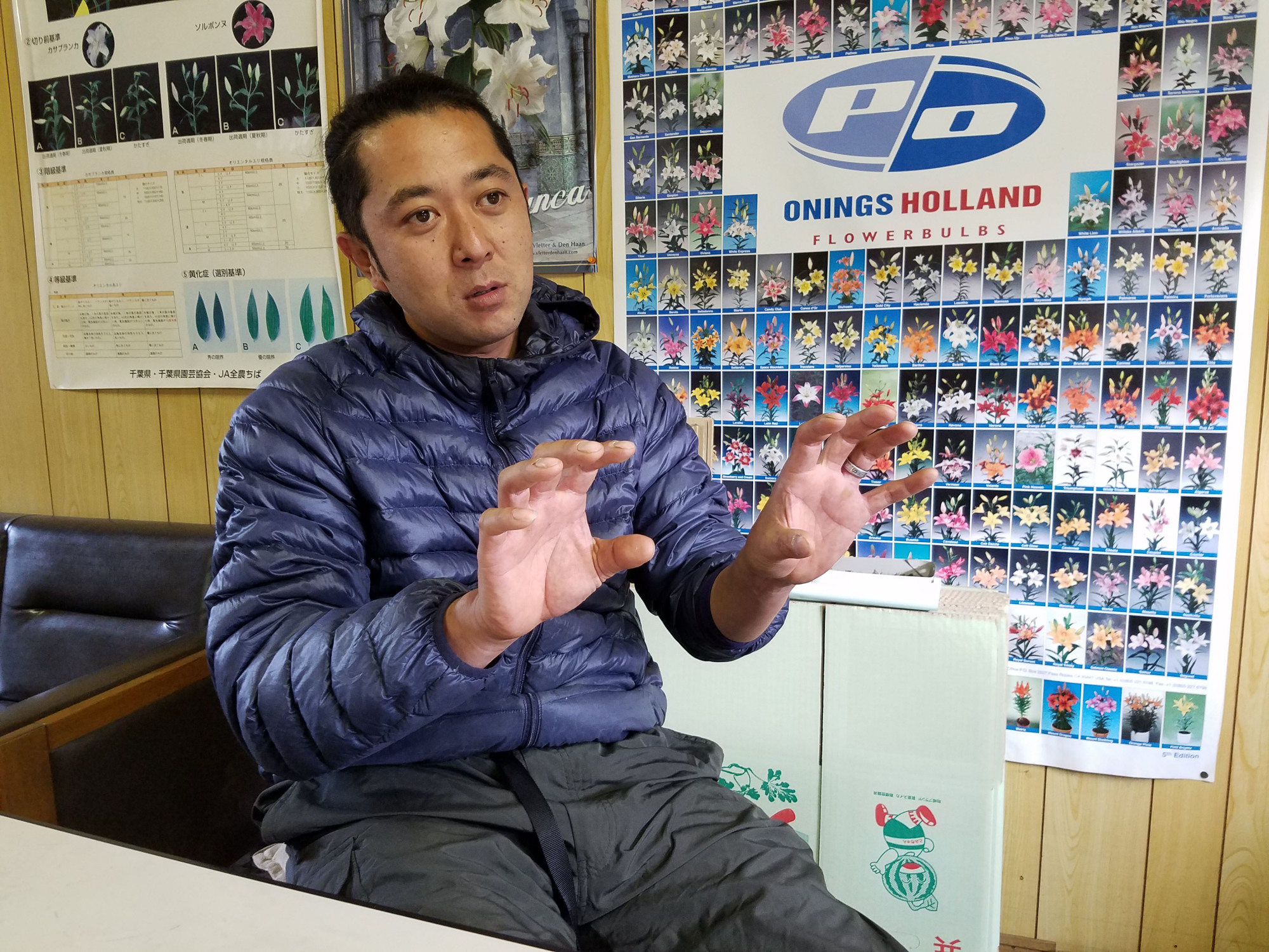 Kenji Tanaka, president of Chiba-based farming company Vegefru Farm, said during an interview on Nov. 16 that there are positive sides to Japanese 'yankii' delinquents, such as their fighting spirit and loyalty to friends. | TOMOHIRO OSAKI
