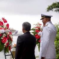 Japan-U.S. joint ceremony held for first time to mark Pearl Harbor anniversary