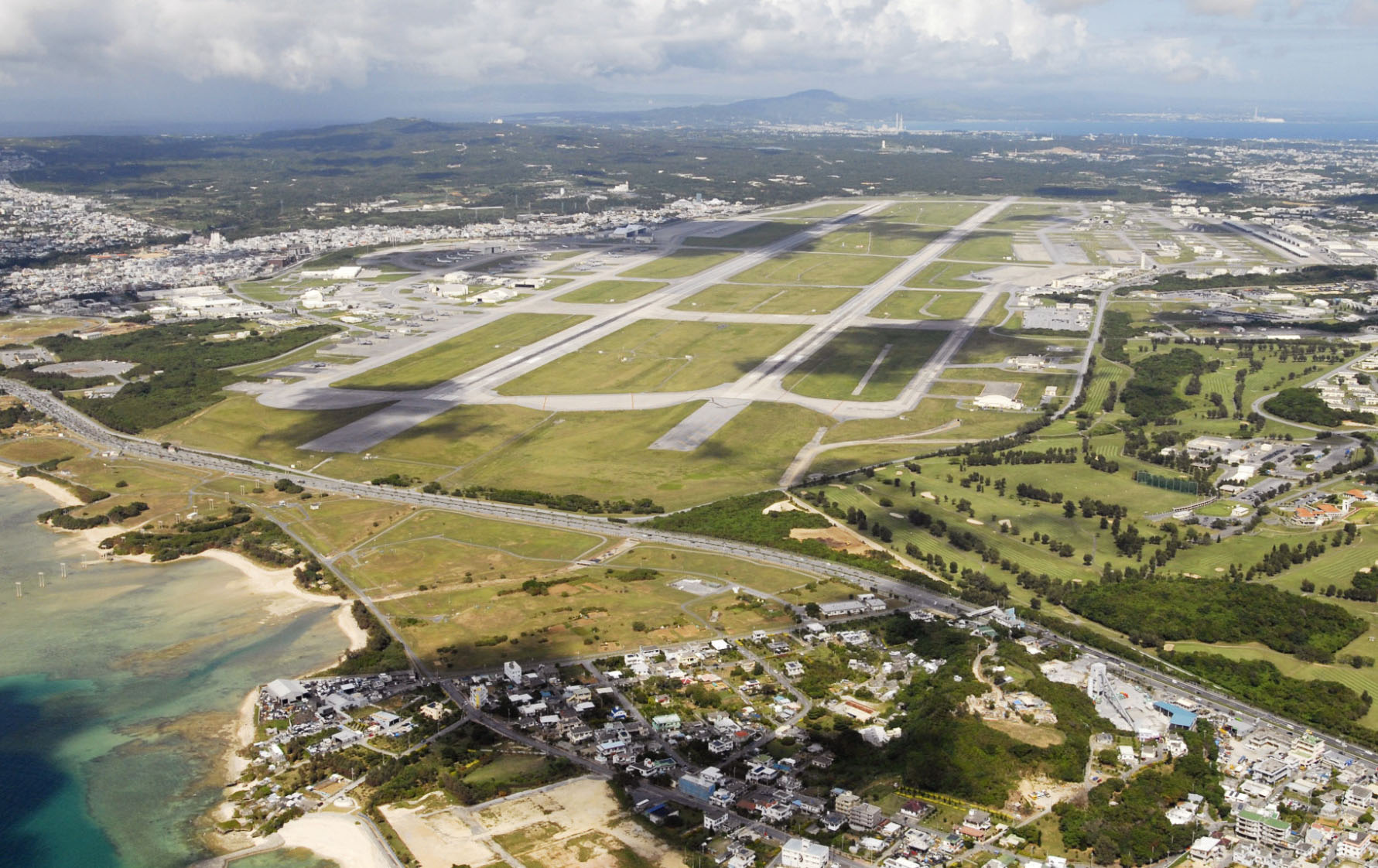 U.S. Air Force Kadena Airbase is seen in Okinawa Prefecture. | KYODO