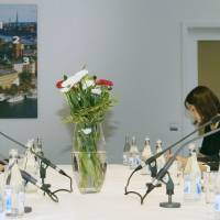 Senior officials from the Japanese and North Korean foreign ministries hold talks in Stockholm in May 2014. | KYODO