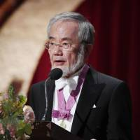 Swedish king presents Japanese scientist Yoshinori Ohsumi with Nobel Prize at Stockholm ceremony