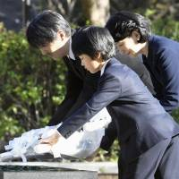 Japan's Prince Hisahito visits Nagasaki atomic bomb sites