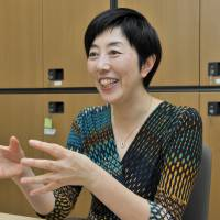 Noriko Arai, a mathematician at the National Institute of Informatics, is interviewed on Nov. 18 at her office in Tokyo's Chiyoda Ward. | YOSHIAKI MIURA