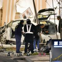 Taxi crashes into Fukuoka hospital, leaving three dead, seven injured
