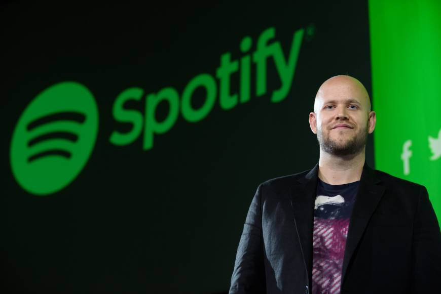 Spotify CEO and co-founder Daniel Ek attends the service