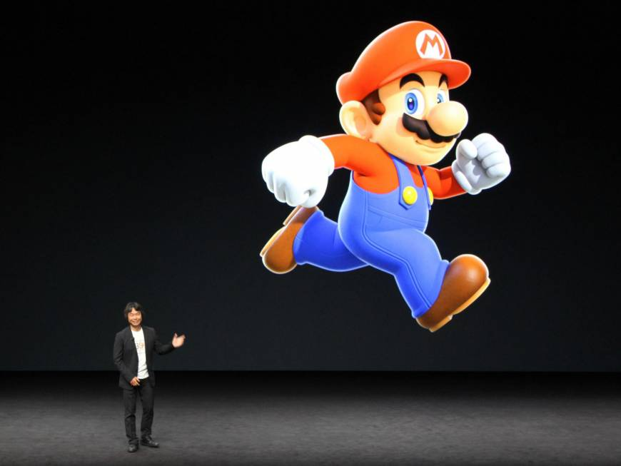 Shigeru Miyamoto attends an Apple event in San Francisco in September to announce a