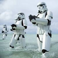 Baddies at sea: Stormtroopers wade through water in 'Rogue One: A Star Wars Story.' | © LUCASFILM LTD. ALL RIGHTS RESERVED