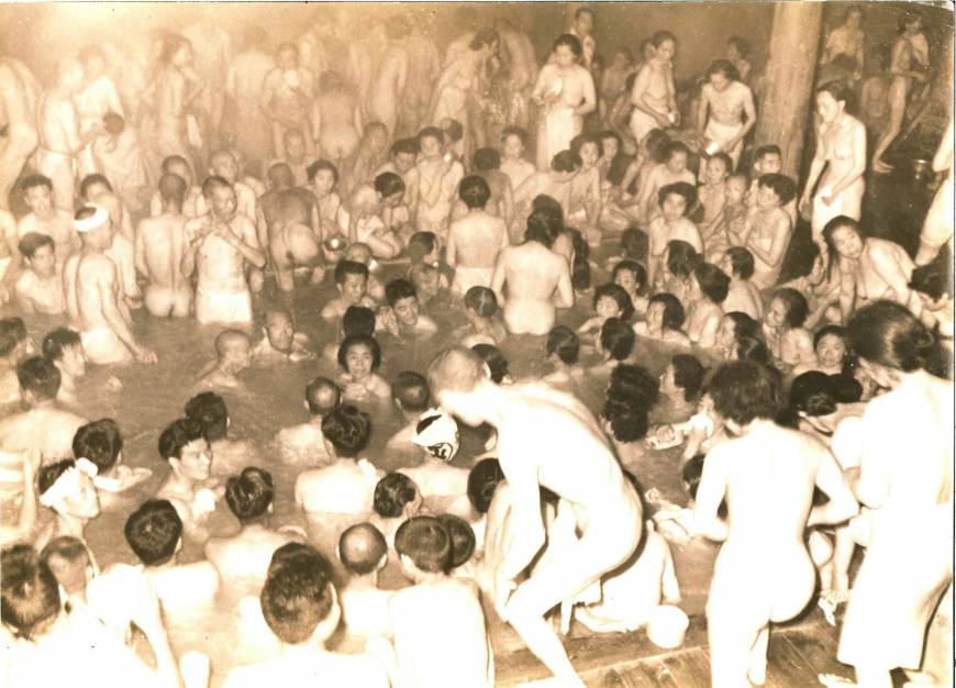 An undated archival photo of Sukayu Onsen
