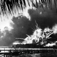 The USS Arizona sinks following the surprise attack. | KYODO