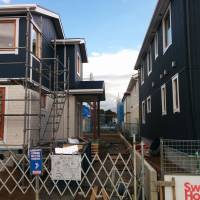 Rooms without a view: New homeowners often prefer larger houses, even if they are cramped together with neighbors. | PHILIP BRASOOR