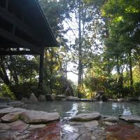 The mud onsen is nestled in a forest in the volcanic area of Kirishima. | KATHRYN WORTLEY