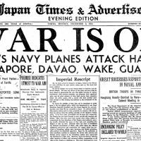 Steamer missing; Japan declares war on U.S., British Empire; woman wins court case for equality of sexes; anger grows over bullet train noise