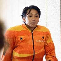 Blast from the past: Former SMAP member Katuyuki Mori attends a race in Gunma Prefecture earlier this year. | KYODO