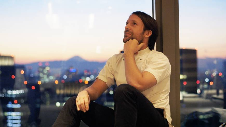 Chef Rene Redzepi takes a break before the launch of Noma Japan in January 2015.