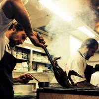 Noma chefs prepare the course of wild duck.  | ©2015 BLAZHOFFSKI / DAHL TV. ALL RIGHTS RESERVED.