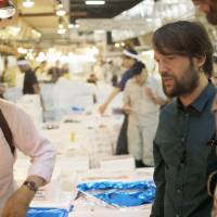 Chef Redzepi is given a tour of the famous Tsukiji fish market.  | ©2015 BLAZHOFFSKI / DAHL TV. ALL RIGHTS RESERVED.