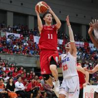 Rising star Naoki Uto is a key newcomer for the Toyama Grouses this season.   B. LEAGUE