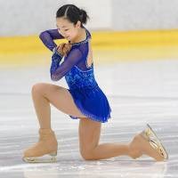 Moa Iwano, who finished second in the Japan Advanced Novice Championships this season, is striving to be on the Olympic team for the 2022 Beijing Games. | LUCIER HO