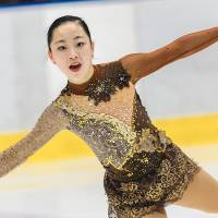 Moa Iwano, who placed 15th at the recent Japan Junior Championships in Sapporo, competes to 'Kiss of the Vampires' in her free skate.   LUCIER HO