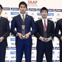 Olympic silver medal-winning relay team picks up Athlete of the Year award