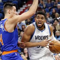 Knicks overcome Timberwolves rookie Towns' 47-point performance