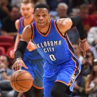 Westbrook gets 15th triple-double in Thunder victory