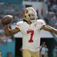 Kaepernick displaying old form for 49ers