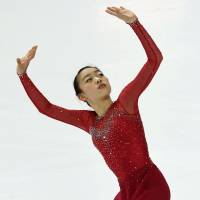 Rika Kihira is in fifth place after the short program at the Junior Grand Prix Final in Marseille, France. | KYODO