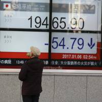Many analysts believe that the benchmark 225-issue Nikkei Stock Average is likely to move between 17,000 and 22,500 in 2017. | AP