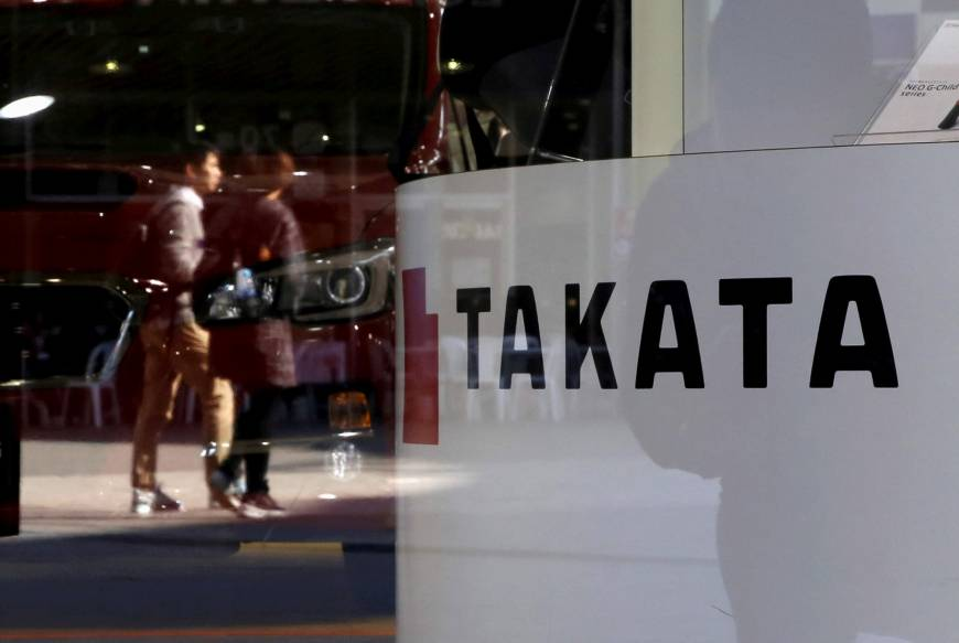 Takata bidders said to favor Japan bankruptcy; shares tumble