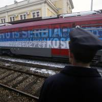 Serb nationalist train denied Kosovo entry seen threatening armed clash, West-Russia row over Balkans