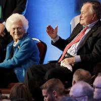 George H.W. Bush, 92, stable in Texas ICU after bout of pneumonia; wife hospitalized as precaution