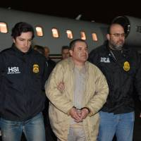 Mexican drug lord 'El Chapo' is hauled off to U.S. jail that has held terrorists