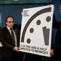 'Doomsday Clock' set closest to midnight since 1953, and Trump is key factor