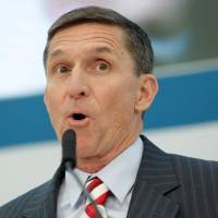 Incoming White House national security adviser Michael Flynn speaks at a U.S. Institute of Peace conference in Washington on Tuesday. | REUTERS
