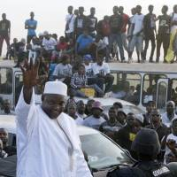 Gambia's new leader stages triumphant return, vows to end predecessor's climate of fear