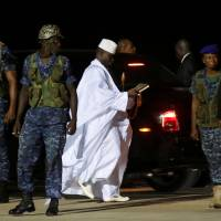 African troops enter Gambia to secure Barrow's return after Jammeh stands down as president
